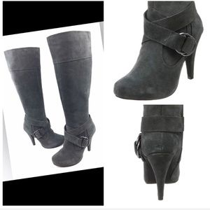 Steve Madden Gray Over the Knee Heeled Boots